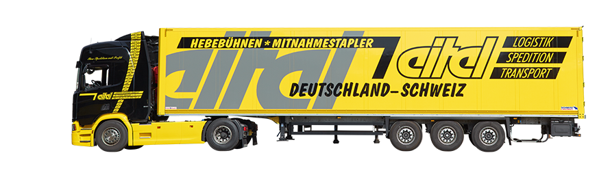 Standard Koffer Sattelzug mit Doppelstockverladesystem